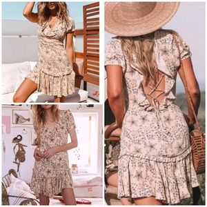 Spell & the Gypsy Celestial Mini Dress Cream sz XL